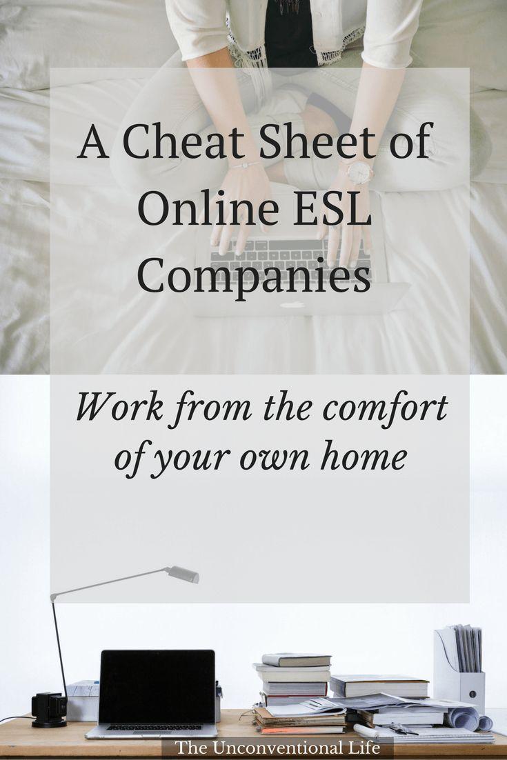 A Cheat Sheet Of Online ESL Companies to Help You Teach ESL Online ...