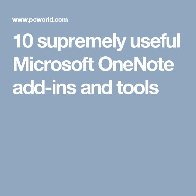 onenote addins