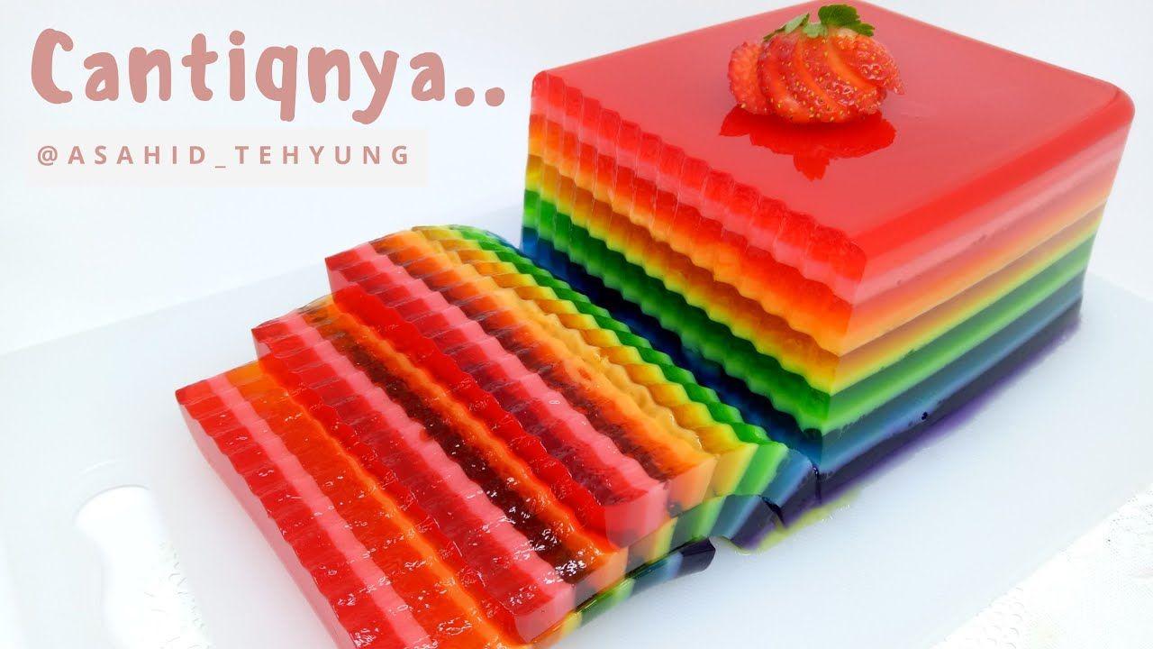 Resep Pudding Jelly Rainbow Puding Pelangi Yang Cantik Youtube Avocado Dessert Pudding Recipes Pudding