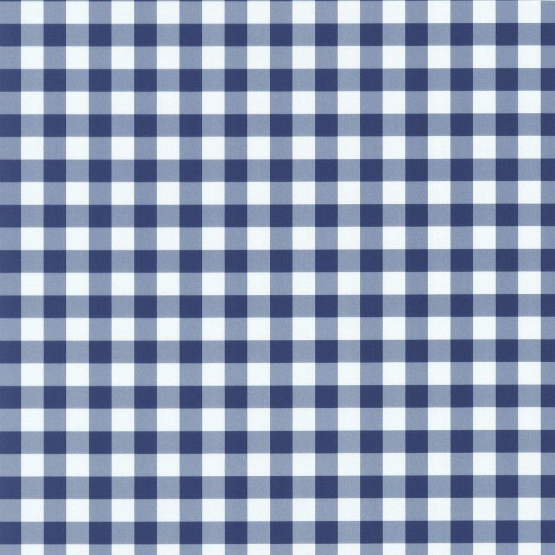 Checkered Wallpaper: Home » Playground Navy Blue / White Gingham Check