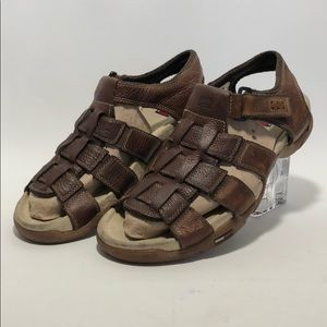 Tommy Hilfiger Mens Brown Leather Sandals Sz 10M