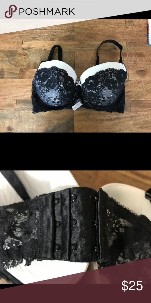"1cbd5a8fed Victoria s Secret Dream Angels Lined Demi Bra Victoria s Secret Dream  Angels ""Lined Demi"" Bra White with black lace Padded with underwire Victoria s  Secret ..."