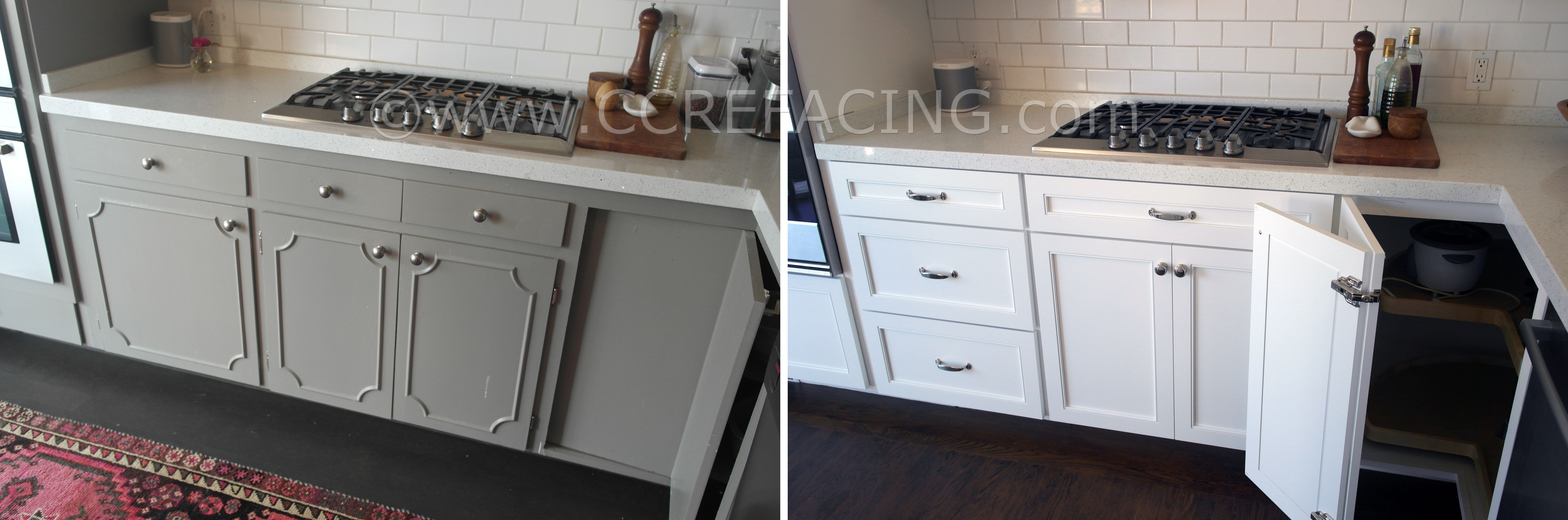San Mateo Cabinet Reface Refacing With White Shaker Doors Cabinet Refacing Cabinet Thermofoil Cabinets