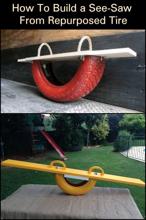 Keep The Kids Entertained With This DIY Tire Seesaw! – #DIY #entertained #kids #seesaw #Tire #woodworking