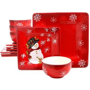 Christmas Dinnerware Sets You Ll Love In 2019 Wayfair Christmas Dinnerware Sets Christmas Dinnerware Ceramic Dinnerware Set