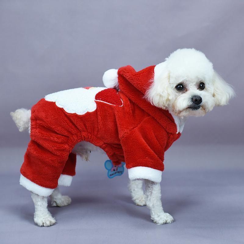 Christmas Dog Hooded Jackets Santa Claus Xl Christmas Pet