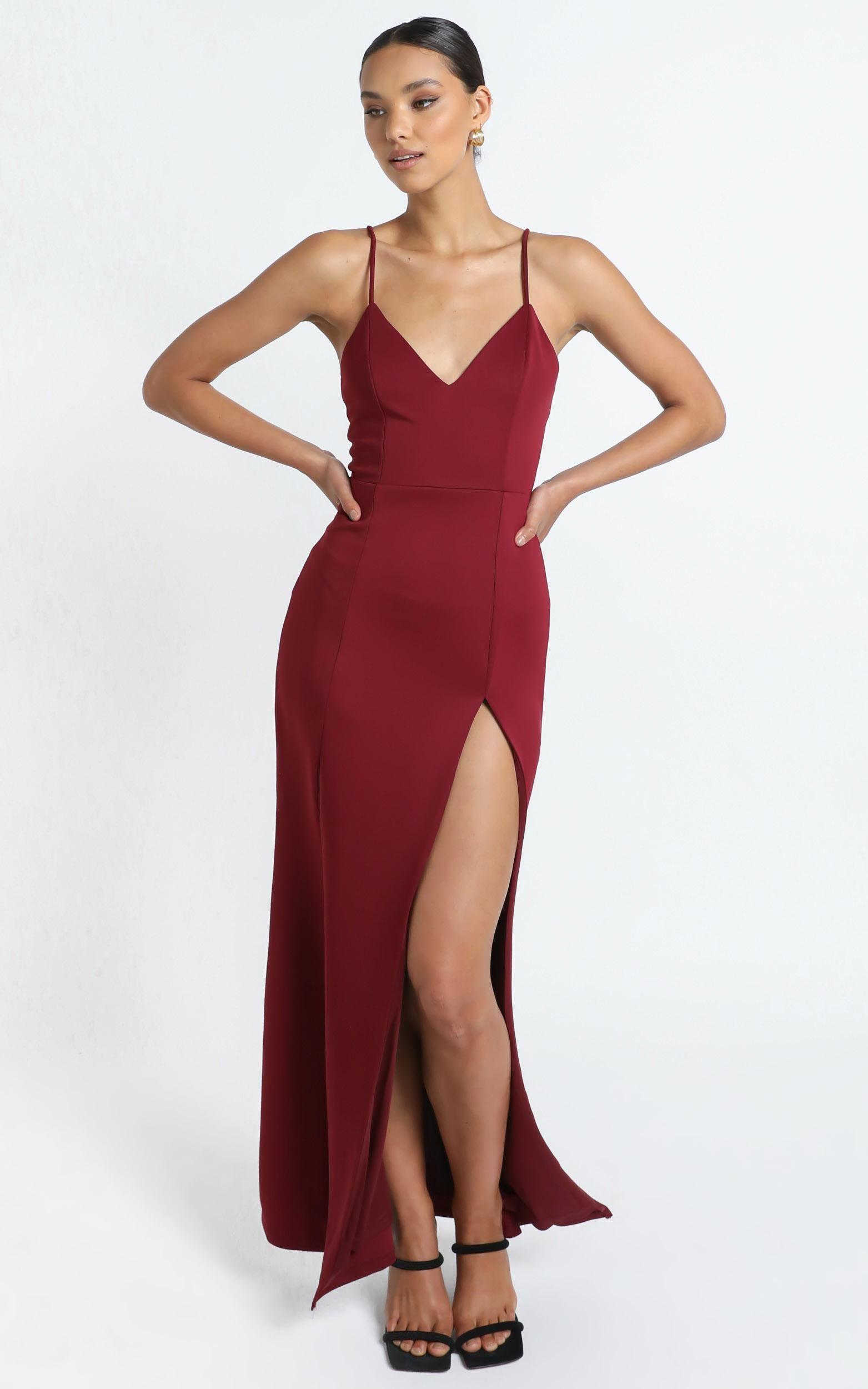 Dare To Dream Maxi Dress In Wine Showpo Dresses Maxi Dress Showpo [ 2500 x 1563 Pixel ]