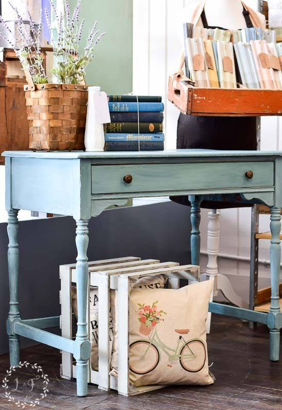 Adorable Antique Writing Desk Makeover Using Mms Milk Paint In Kitchen Scale See Lots Of Up Close Photos Along With How To Finish A Piece