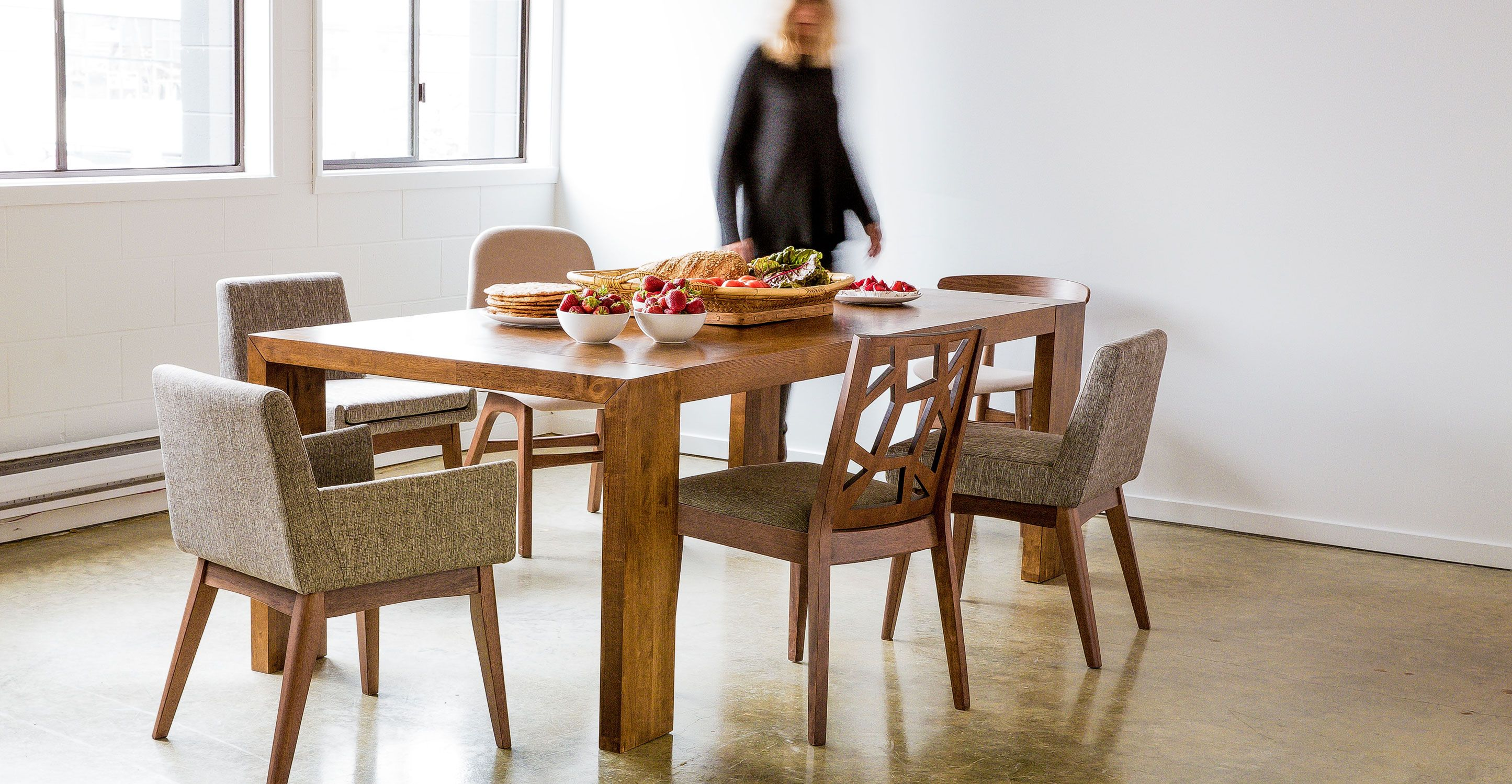 Clarkson Cocoa Wood Dining Table Wood Tables Bryght Modern