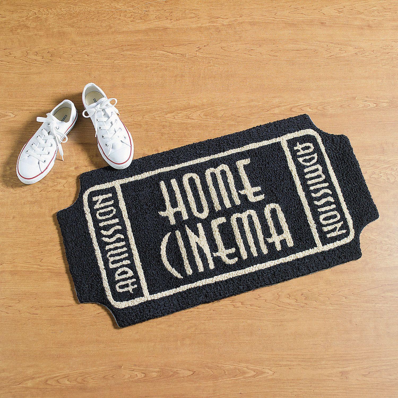 Movie Ticket Rug Oriental Trading easy diy with doormat