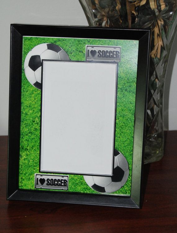8x10 Soccer Inspired Picture Frame By Sapphirecustomphotos On Etsy