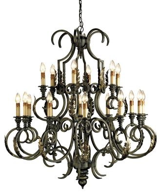 Large Sussex Chandelier.  Oh so curly and majestic!