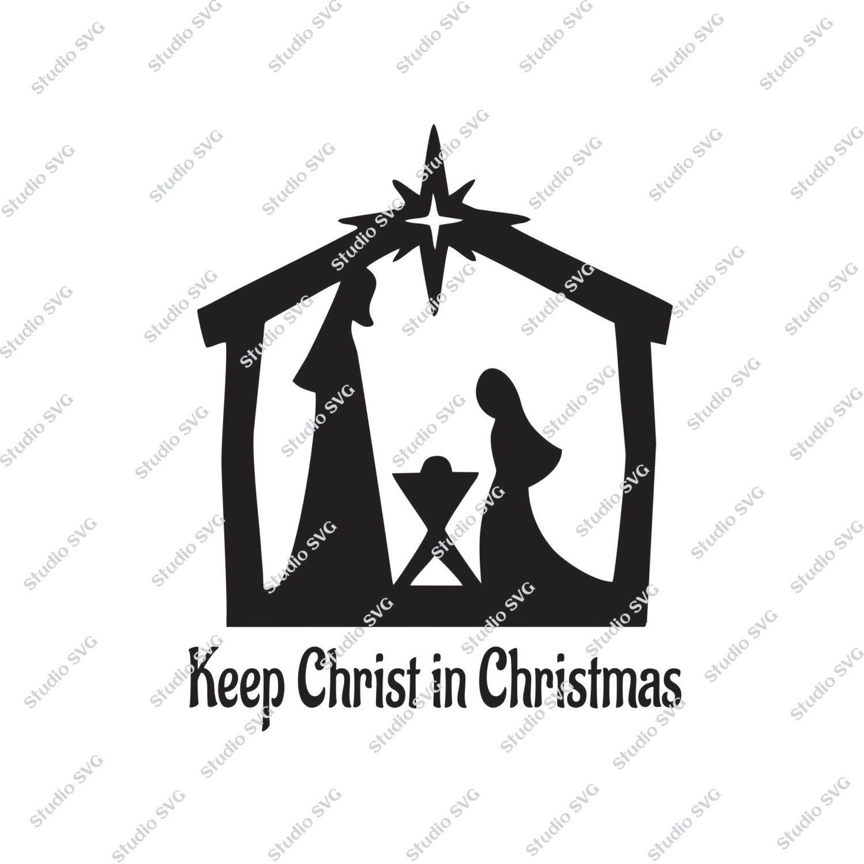 Keep Christ in Christmas, Car Decal, Digital Cut File, Car Sticker ...
