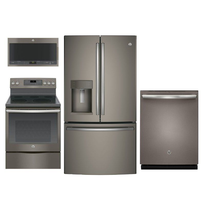 Ge 4 Piece Electric Kitchen Appliance Package With 27 8 Cu Ft