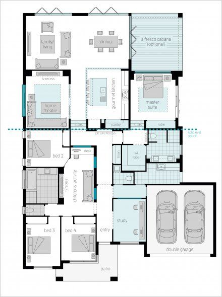 Home Plans Nice Interior And Exterior Home Design With: Milano 15 Four Upgrade Floor Plan By McDonald Jones