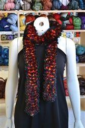 Self ruffling yarn - black and red