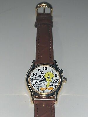Armitron E. Gluck Corp Musical 1999 Warner Bros Tweety Bird Musical Watch