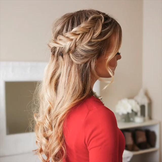 flätad frisyr för långt hår, #bohemiskstilhår #flätad #för
