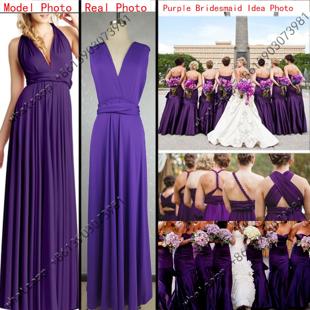 Aliexpress.com: Comprar 2016 Verano Sexy Purple Multiway Damas de ...