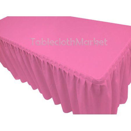 5f88b0a46 4' Fitted Polyester SINGLE Pleated Table Skirting Cover w/Top Topper 24  COLORS