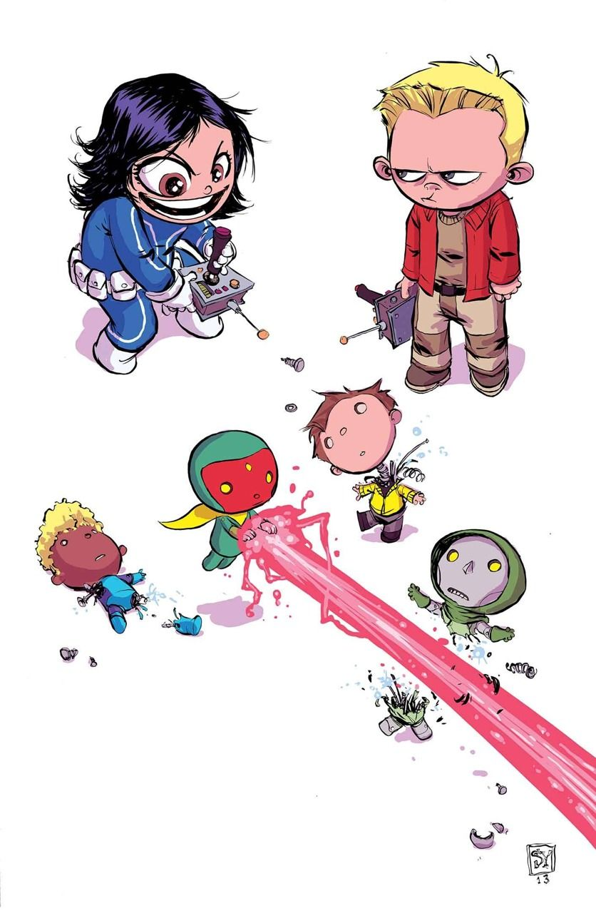 Avengers A.I. Variant cover by Skottie Young