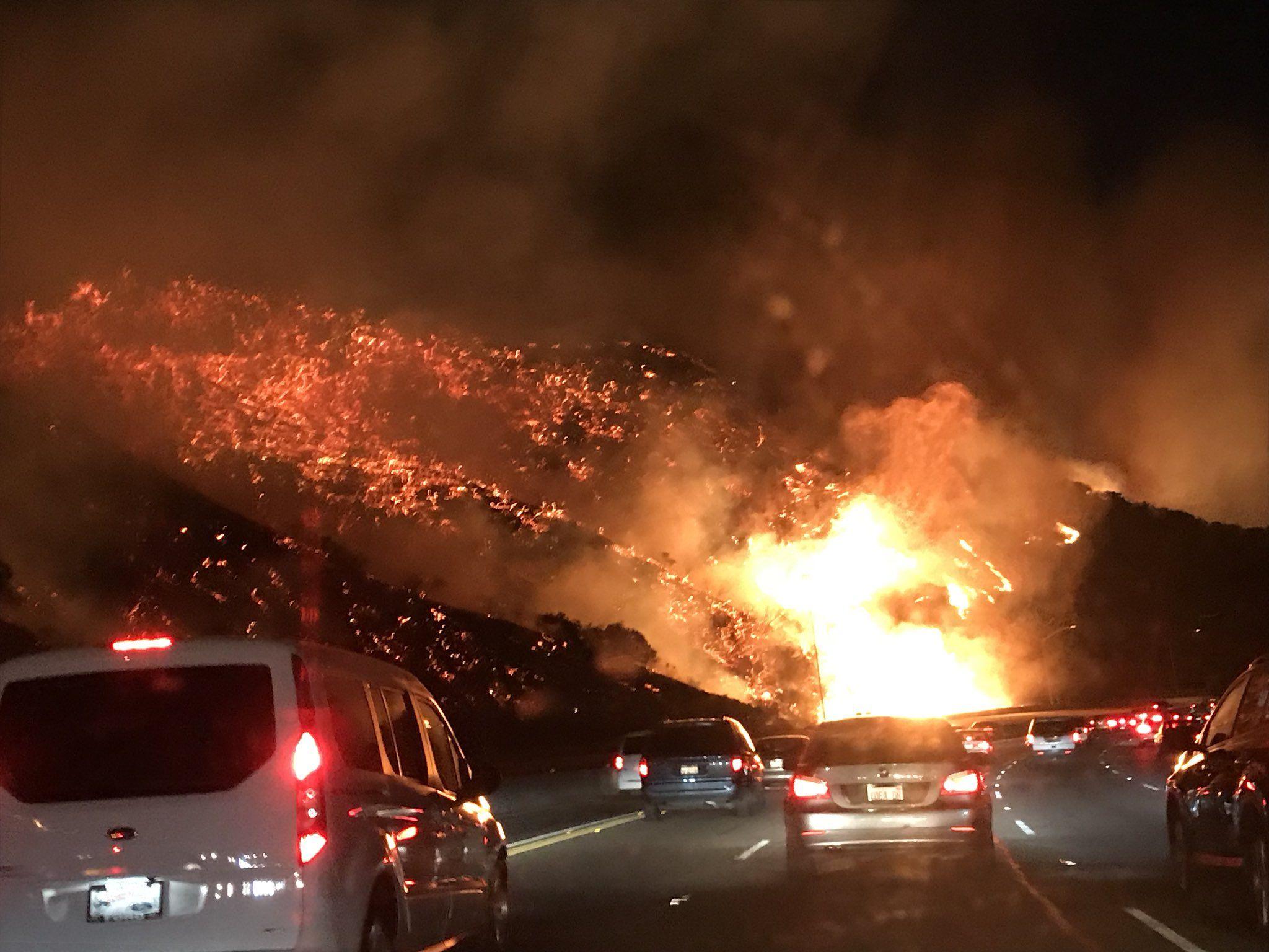 The Skirball Fire In California California Wildfires California Los Angeles