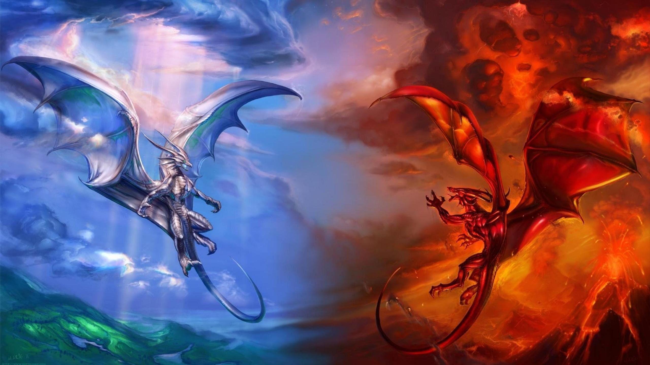 Red Fire Dragon Wallpaper