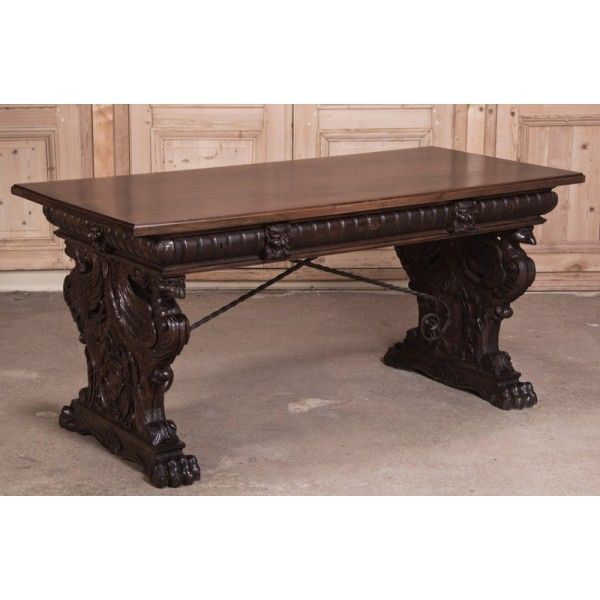 Your source for French and European Antique Furniture and Accessories. Shop  online or visit us in Dallas, TX or Baton Rouge, LA. - Antique Furniture Antique Italian Renaissance Walnut Desk Www