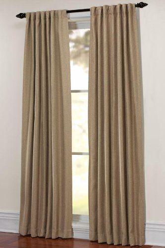 Martha Stewart Living Thermal Tweed Drapery Panel 50x84 Monks