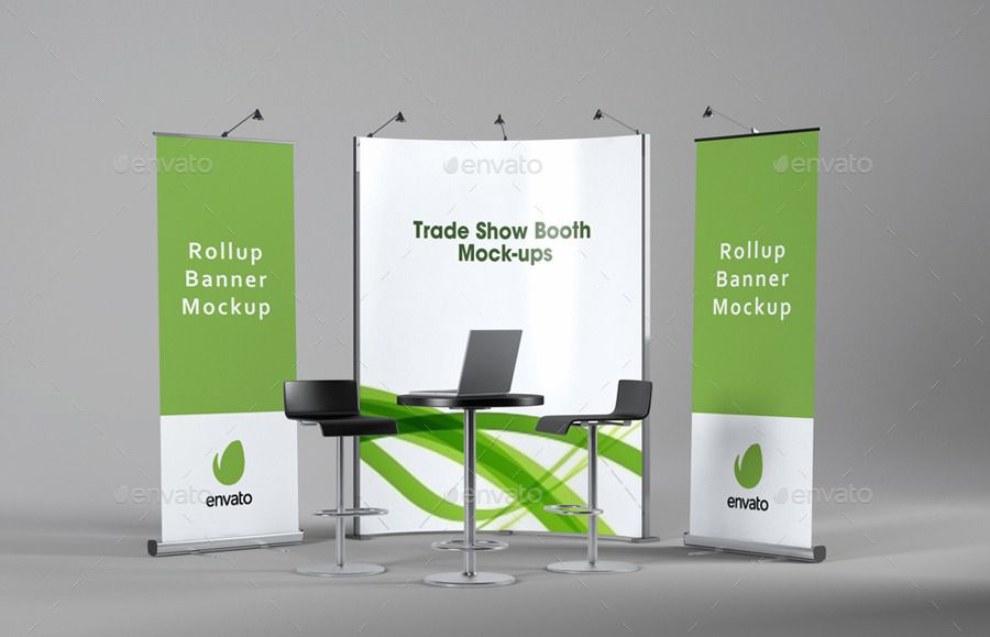 Trade Show Booth Mockups V2 Tradeshow Booth Show Booth Mockup