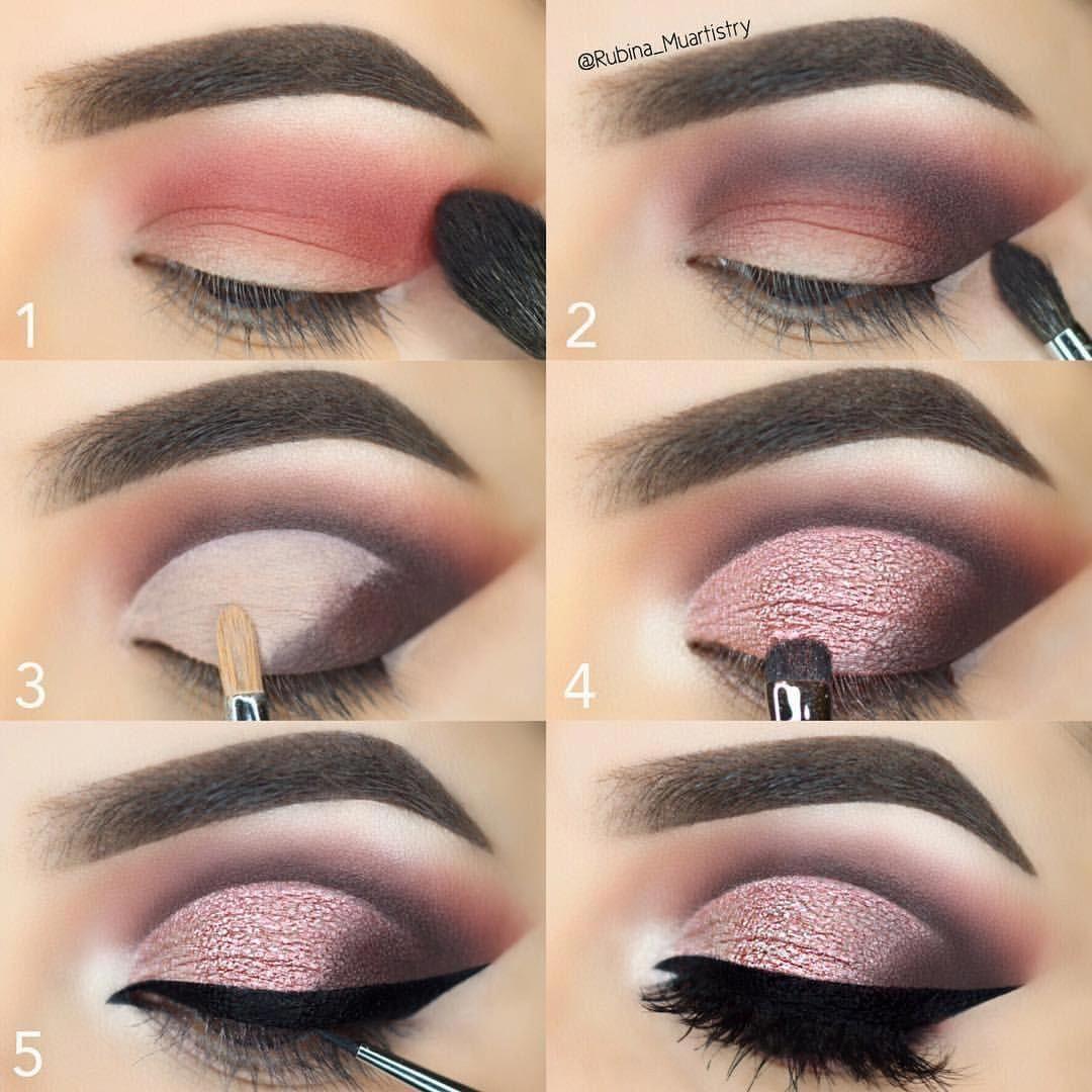 Dark Red Eyeshadow Good Waterproof Eyeliner Loose