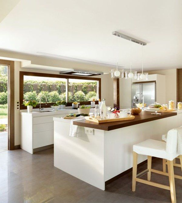 Cocinas con barra cocinas casas y hogar for Disenos de cocinas comedor modernas