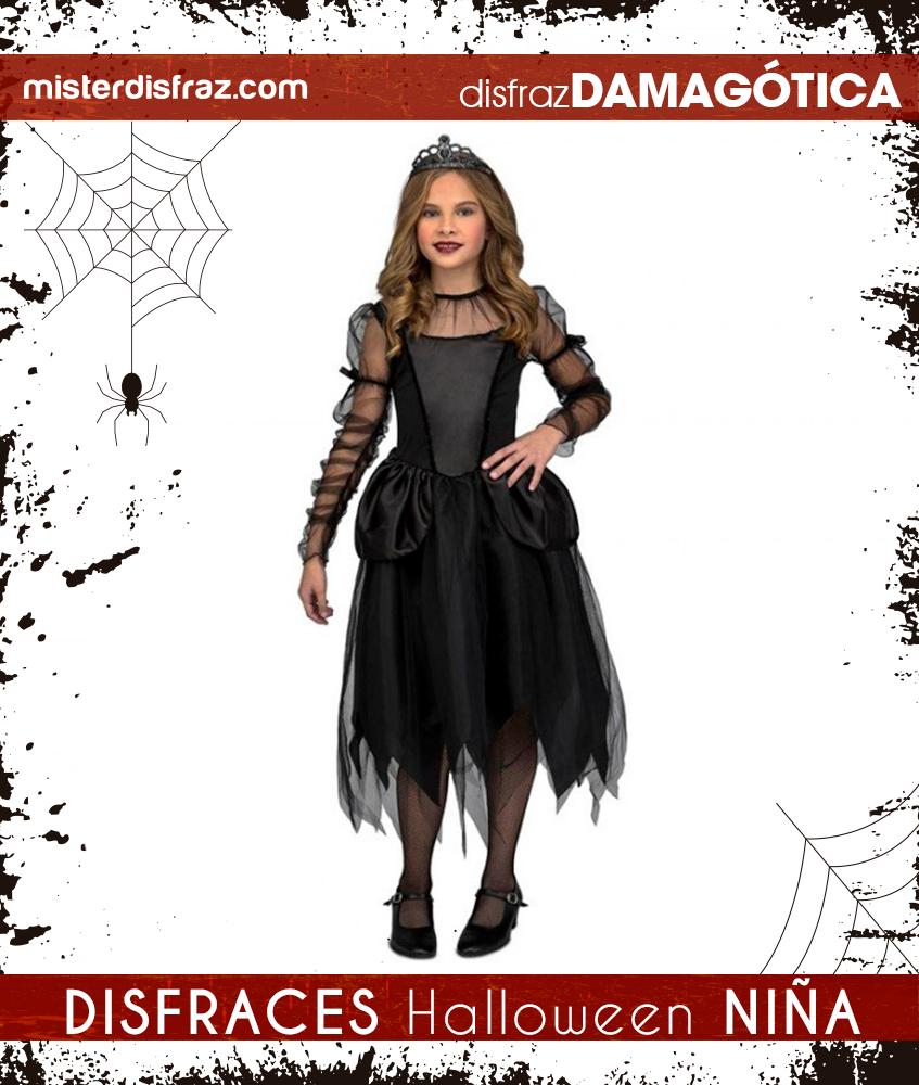 Disfraz de Dama Gótica para Niña en 2020 Disfraz