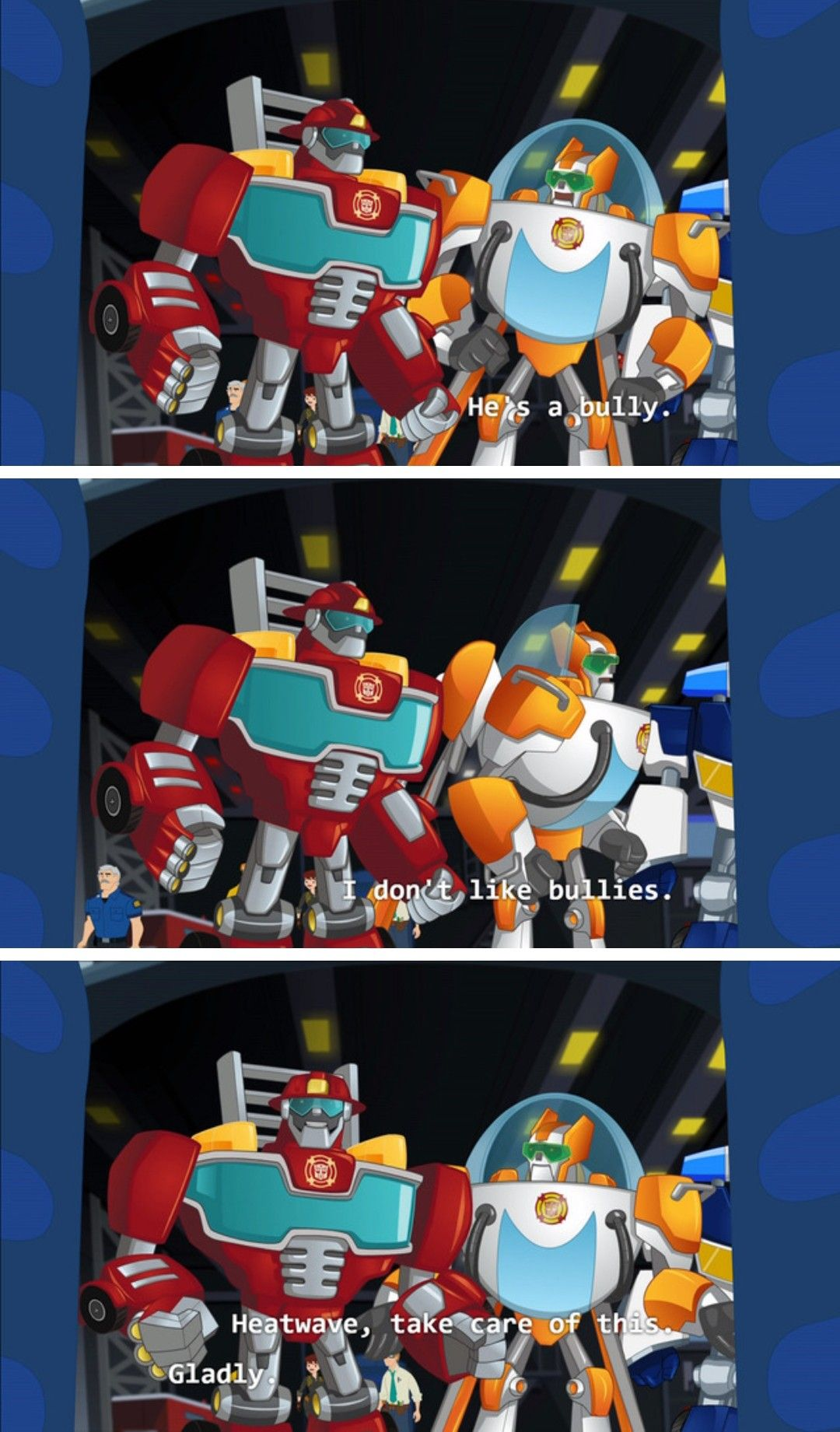 Heatwave Definitely Kills The Spiders In This Relationship Transformers Rescue Bots Transformers Memes Transformers