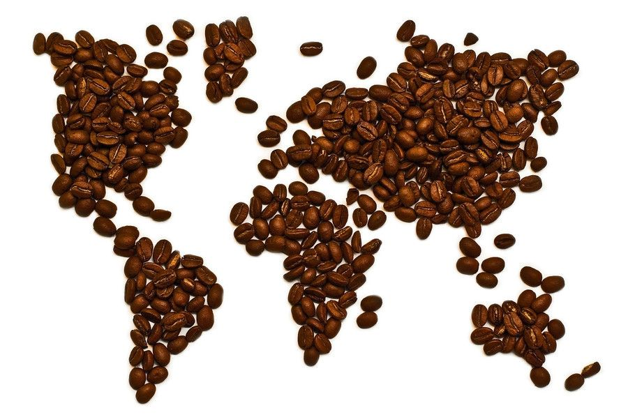 World Map Made From Coffee Beans A Javaolic S Dream If All The
