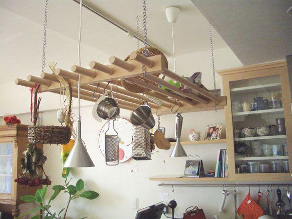 天井吊り下げ棚 の画像検索結果 画像あり オーダーキッチン