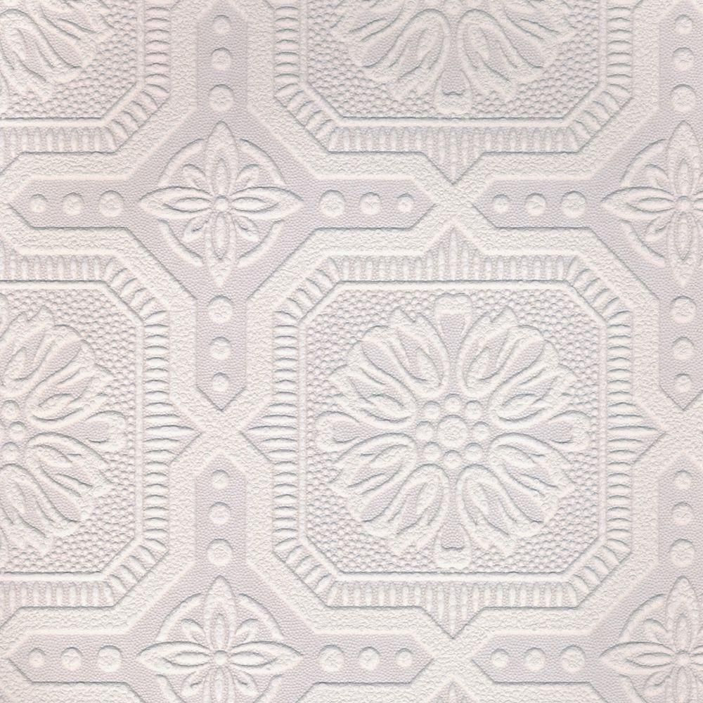 White paintable wallpaper white wallpaper ceiling tiles for Embossed wallpaper