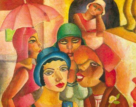 As 5 Mocas Di Cavalcanti Com Imagens Producao De Arte