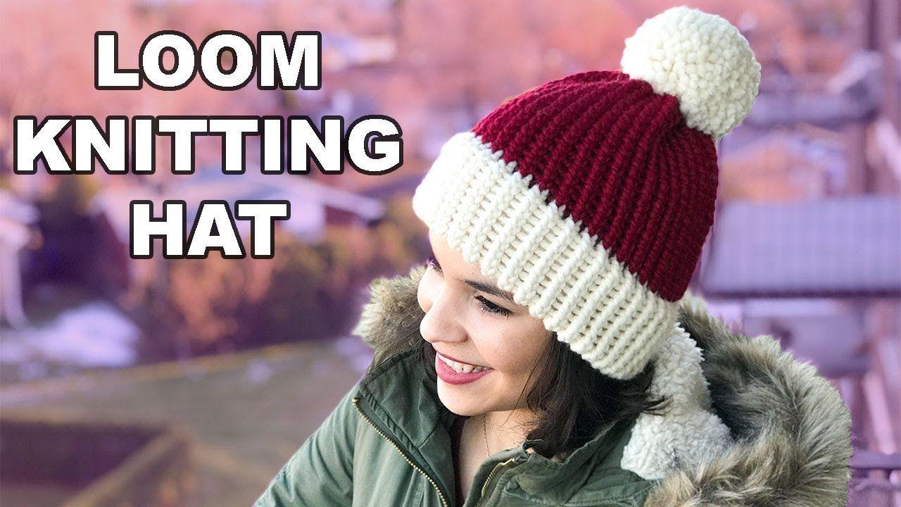 LOOM KNITTING HAT FOR BEGINNERS!   CJ Design ♡ #loomknitting