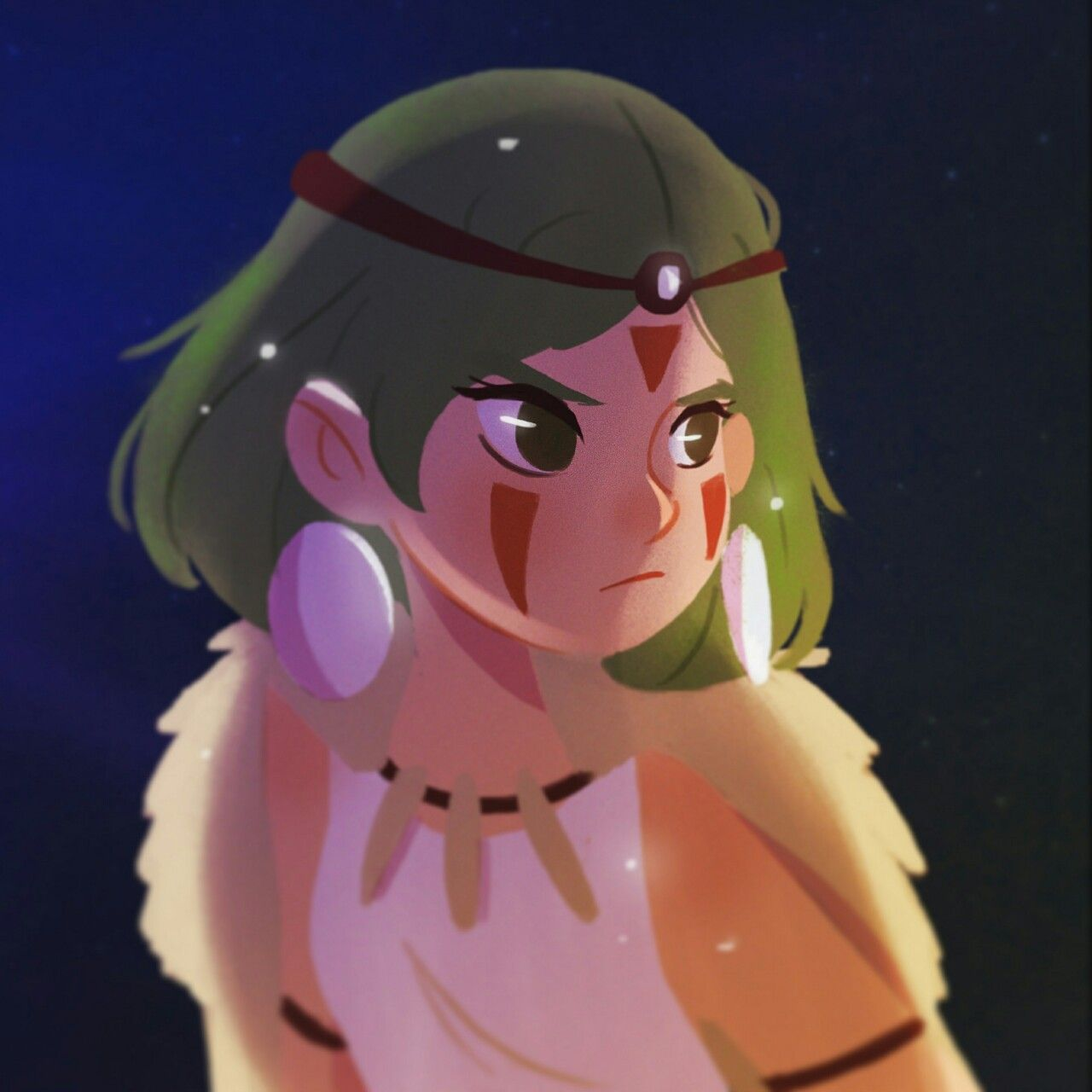 San from Mononoke Hime for morning warm up.