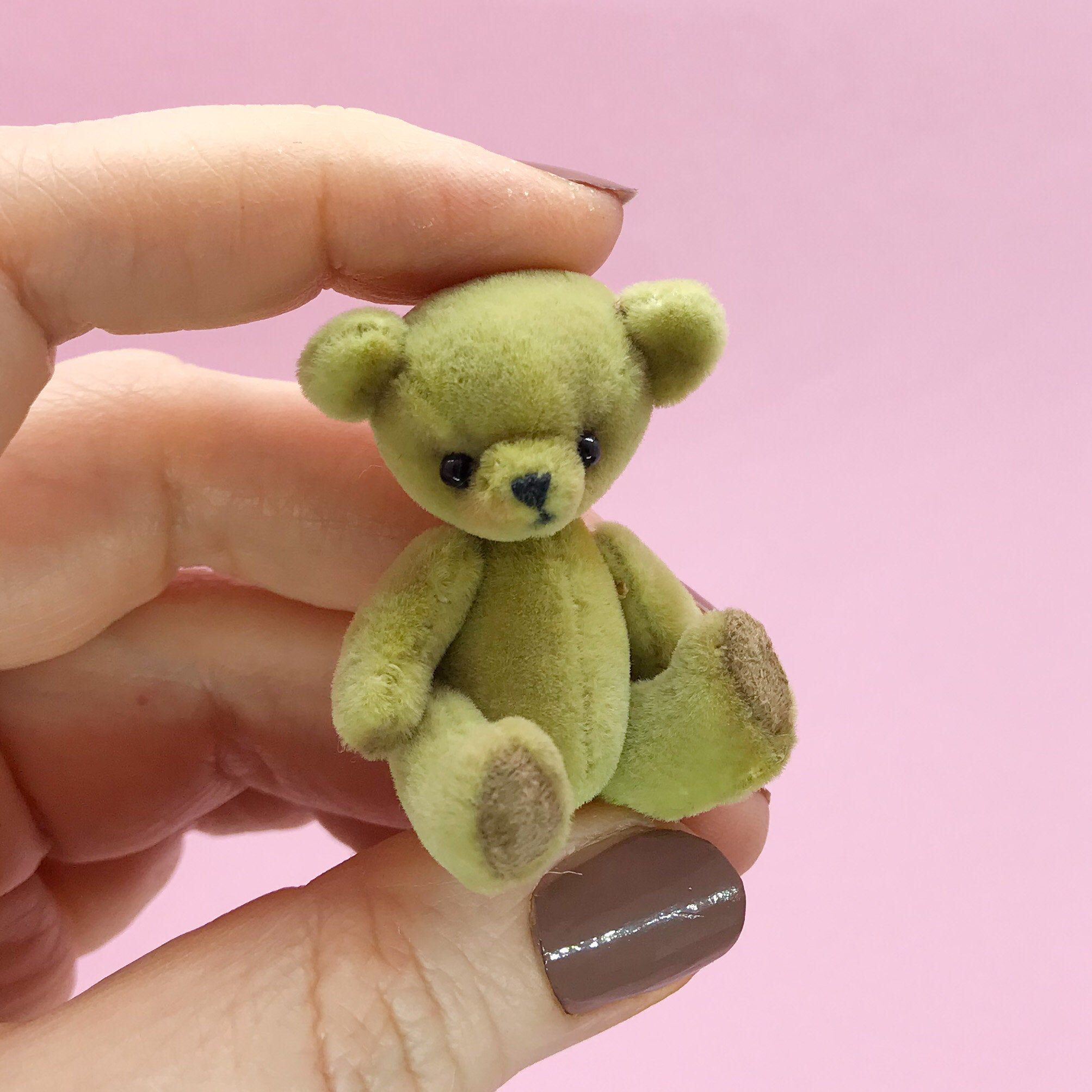 Excited To Share The Latest Addition To My Etsy Shop Teddy Bear Olive Color 1 75 4 5 Cm Miniature Toy Mini Teddy B Mini Teddy Bears Miniature Toys Teddy [ 2007 x 2007 Pixel ]