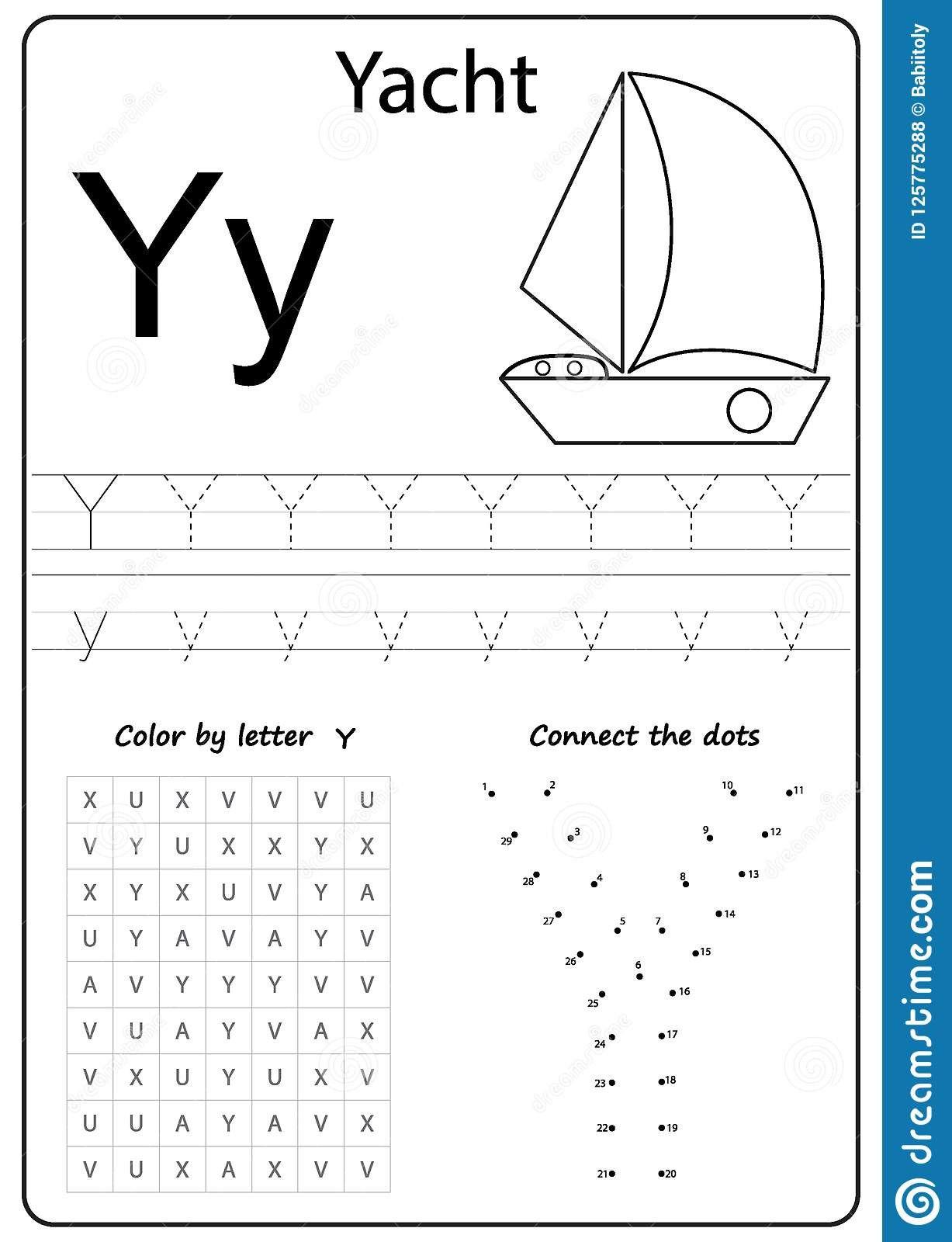 7 Letter Y Worksheets For Preschoolers In
