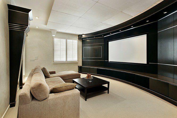 Beamer im Wohnzimmer integrieren - Ideen für einzigartiges ...