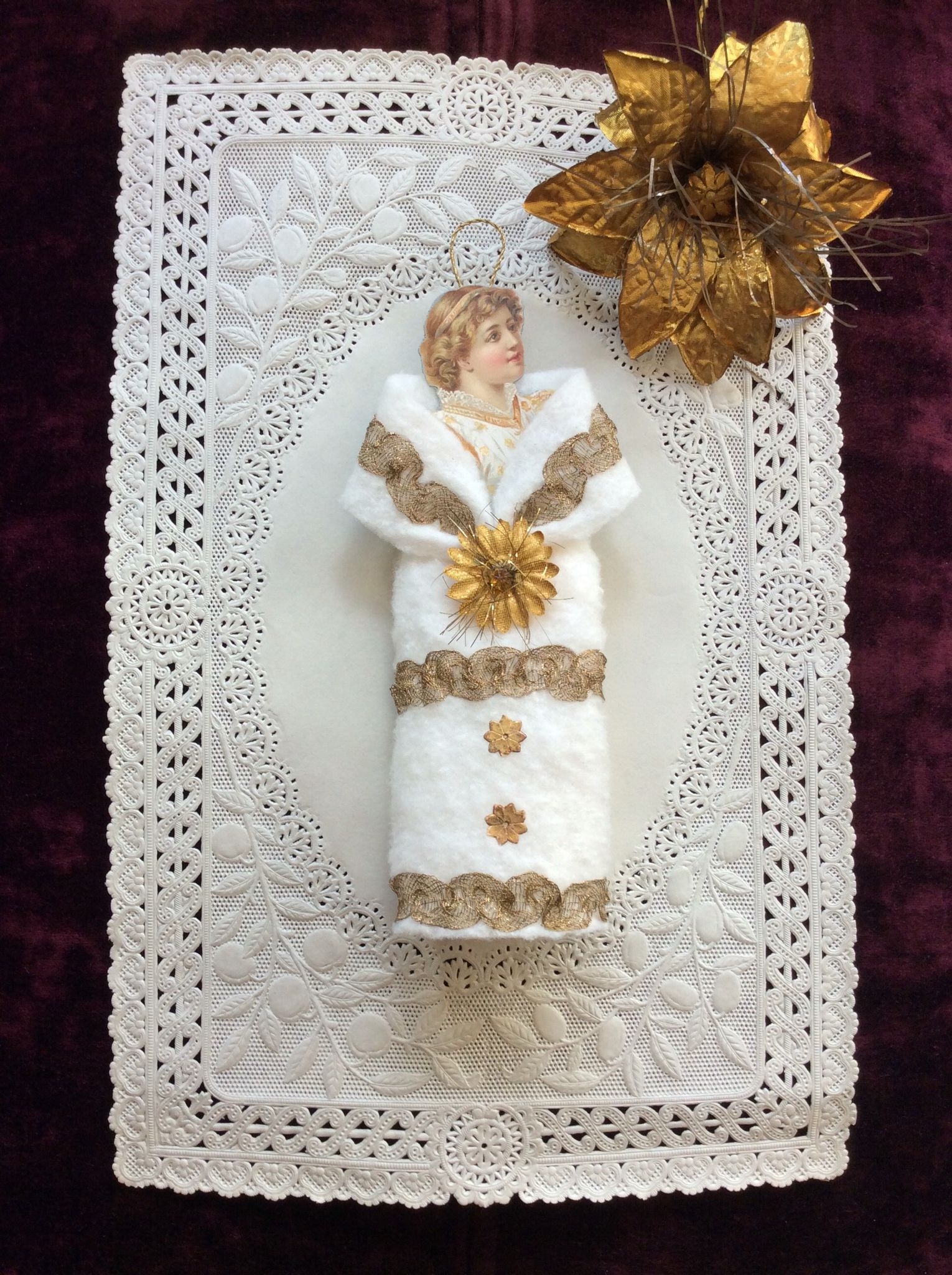 victorian christmas ornament lady made by me