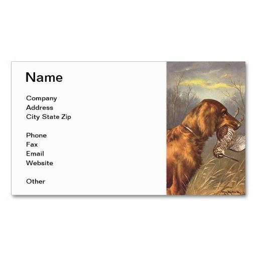 Irish setter dog business card irish setter dogs business cards business irish setter dog business card make your own reheart Image collections