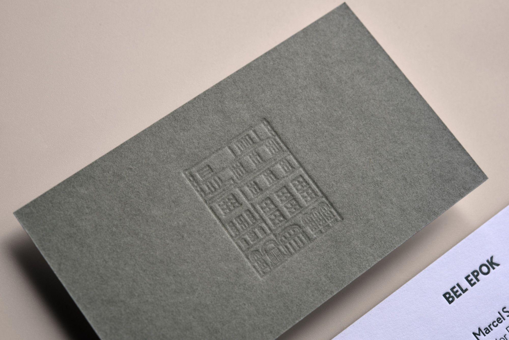 Drucktechnik Letterpress Papier Visitenkarte Gmund Colors