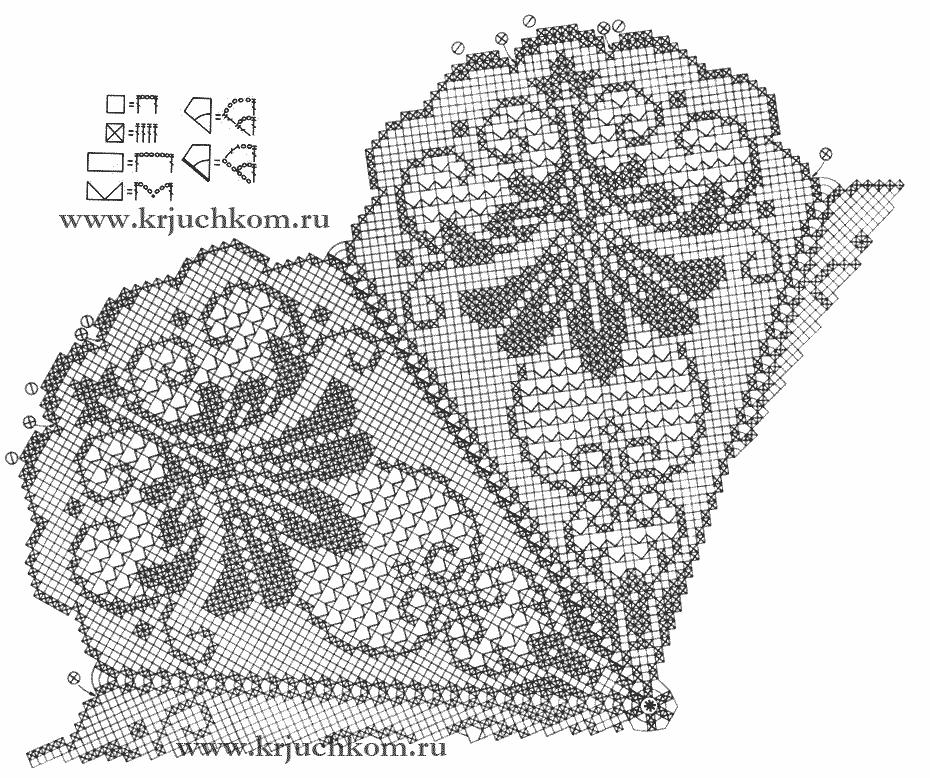 Большая салфетка филейное вязание крючком | crochet Doilies | Pinterest