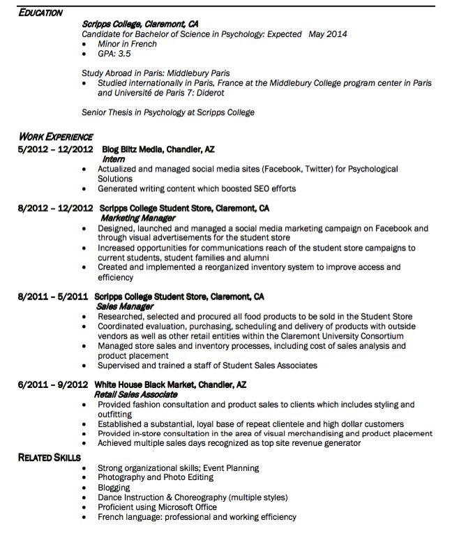 sample retail sales associate resume http exampleresumecv org
