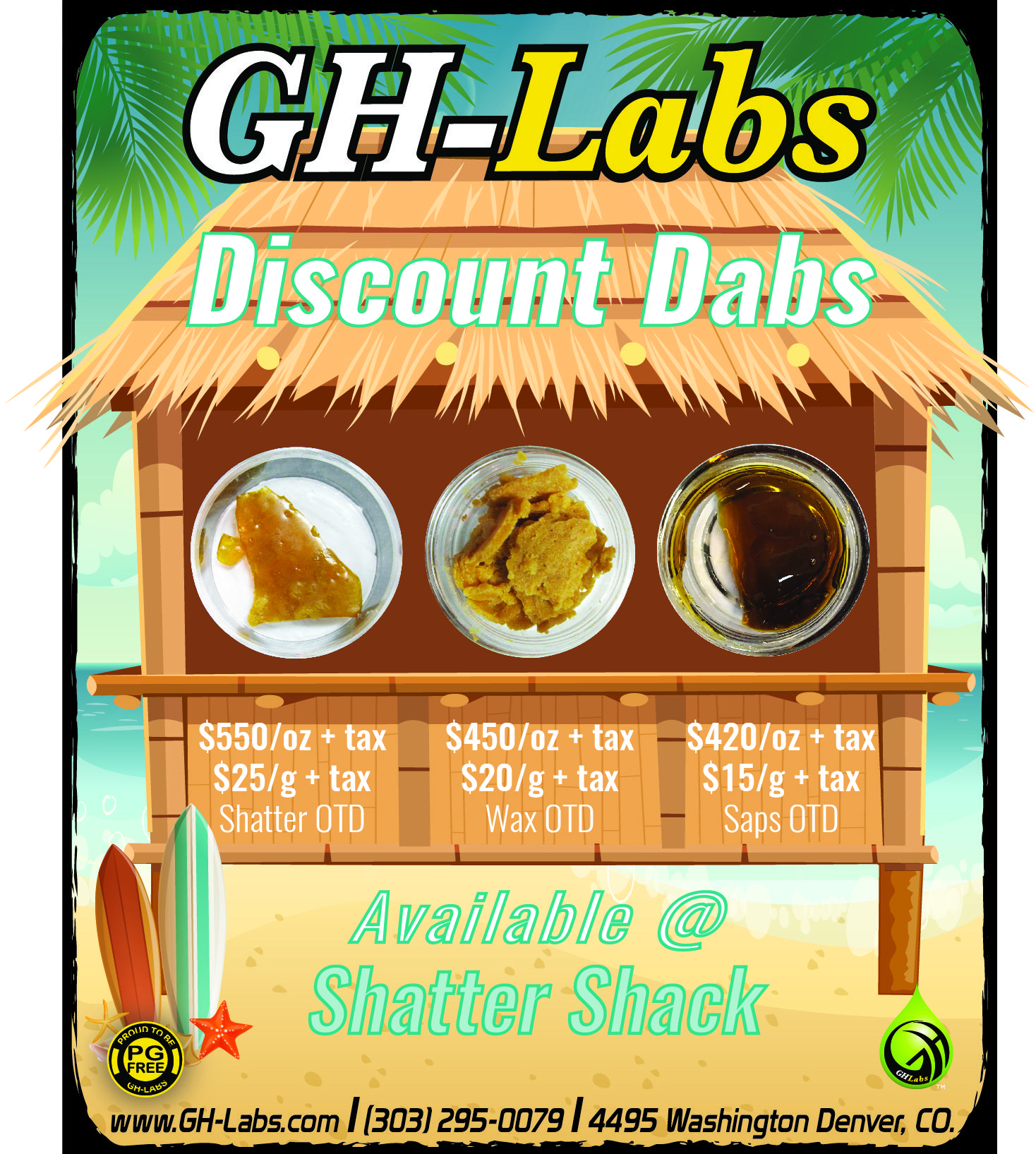 Shatter Shack is back!!! We have discount dabs on sale! OTD pricing: SAP $15/g+tax, WAX $20/g+tax, SHATTER $25/g+tax. #dabs #shatter #wax #denver ...