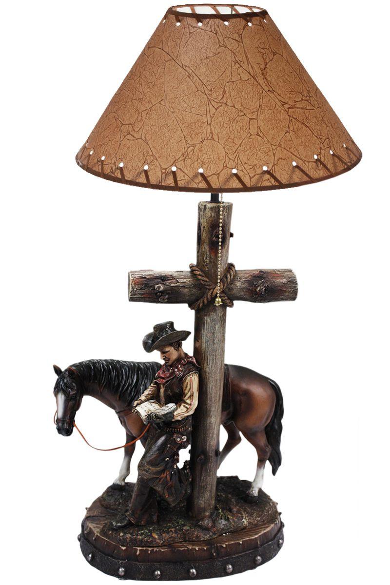 b9320366e1 Abajur de Mesa Country Importado Cowboy Lendo E seu Cavalo Abajur Country  Importado. Design de